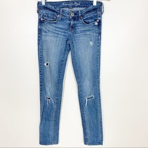 American Eagle Stretch Skinny Jeans Size 0